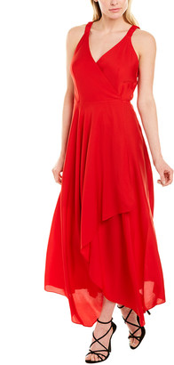 Milly Malorie Silk-Blend Midi Dress