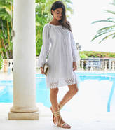 Aspiga White Cabo Cotton Crinkle And Lace Dress