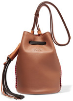 Tod's Gypsy Textured-leather Bucket Bag - Brown