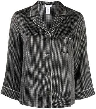Eres Patterned Silk Pyjama Shirt