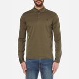 Polo Ralph Lauren Long Sleeved Mercerized Mesh Polo Shirt Defender Green