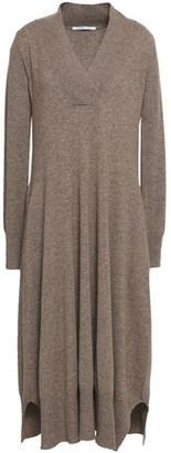 Agnona Melange Cashmere Midi Dress