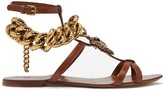 Dolce & Gabbana Devotion Chain Sandals