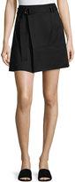 Vince D-Ring Belted Mini Skirt, Black