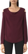 AllSaints Lia Cold Shoulder Top