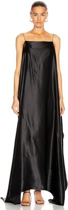 BERNADETTE Meredith Silk Satin Dress in Black   FWRD