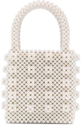Shrimps Antonia pearl-embellished tote
