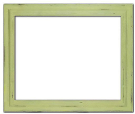 "Doodlefish 20""x24"" Distressed Frame - Green"