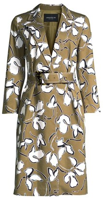 Lafayette 148 New York Nicholas Floral Belted Coat