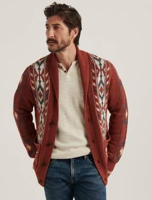 Lucky Brand Washed Southwestern Shawl Cardigan