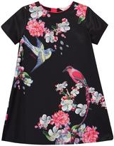 Ted Baker Girls Floral Print Pleated Back Shift Dress
