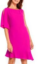Wallis Women's One-Sleeve Asymmetrical Hem Dress