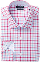 Tailorbyrd Check Trim Fit Dress Shirt