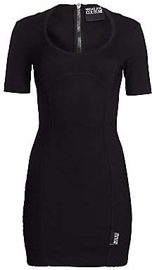 Versace Women's Side Netted-Panel Bodycon Dress