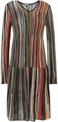 M Missoni Striped Wool-blend Dress