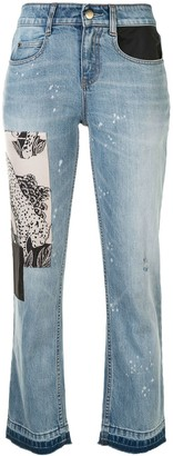 Hellessy Patch-Embellished Cropped Jeans