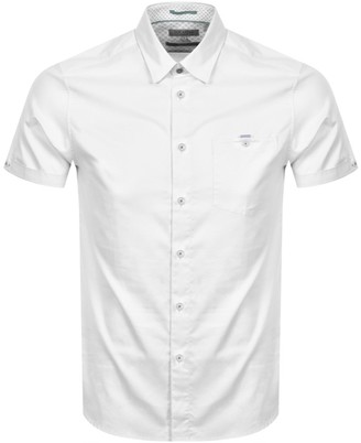 Ted Baker Oxford Short Sleeved Shirt White