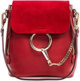 Chloé Small Faye Calfskin & Suede Backpack