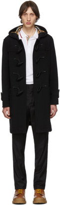 Burberry Black Wool Greenwich Duffle Coat
