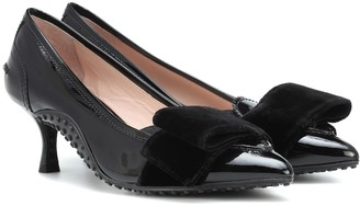 Tod's X Alessandro Dell'Acqua patent-leather pumps