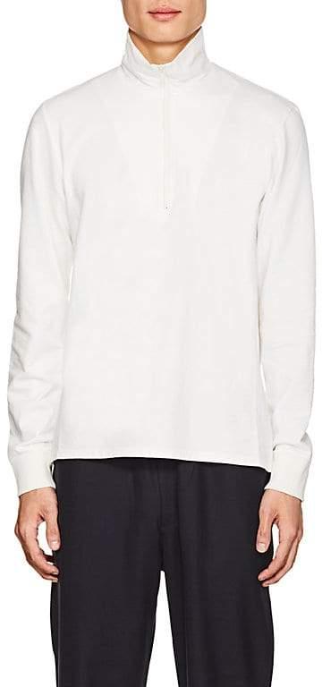 Barena Venezia Men's Cotton French-Terry Mock-Turtleneck Sweater