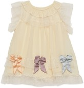 Gucci Baby silk georgette dress with bows