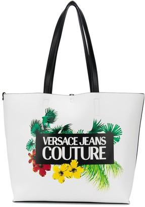Versace Tropical Island-print tote bag