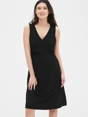 Gap Maternity Sleeveless Crossover Dress