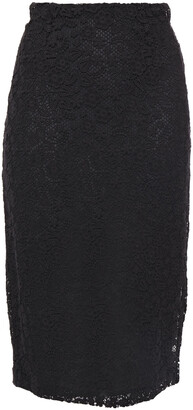 RED Valentino Cotton Guipure Lace Pencil Skirt