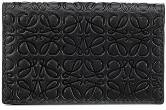 Loewe Anagram embossed leather wallet