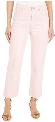 Hudson Remi High-Rise Straight Croppd in Soft Pink (Soft Pink) Women's Jeans