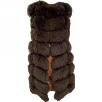 Ohne Titel Grey Fox Coat for Women