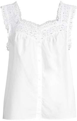 Rebecca Taylor Eyelet Lace Top