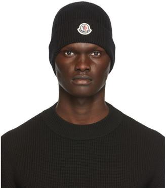 Moncler Black Knit Beanie