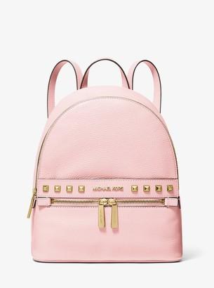 MICHAEL Michael Kors Kenly Medium Studded Pebbled Leather Backpack