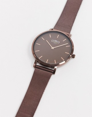 Limit mesh watch in brown with brown dial