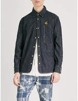 Anglomania Relaxed-fit deconstructed denim shirt