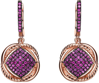 Genevive 14K Rose Gold Over Silver & Silver Cz Earrings