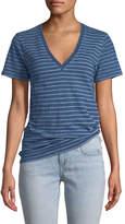 Rag & Bone The Vee Short-Sleeve Jersey Striped T-Shirt