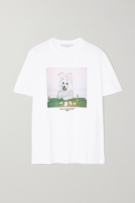 Stella McCartney Net Sustain Printed Organic Cotton-jersey T-shirt