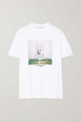 Stella McCartney + Net Sustain Printed Organic Cotton-jersey T-shirt - White
