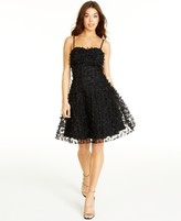 Betsey Johnson Bow-Trim Fit & Flare Dress