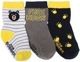 Robeez Yellow & Black Mini Hugs Three-Pair Socks Set