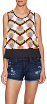 T-Bags LosAngeles Woven Printed Top