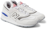 New Balance 997 Baseball Leather and Mesh Sneakers
