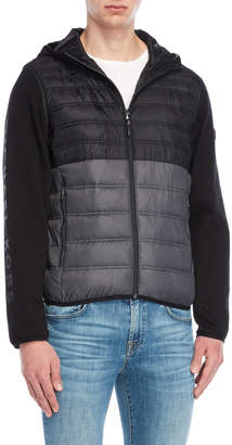 Michael Kors Mix Media Quilted Hoodie