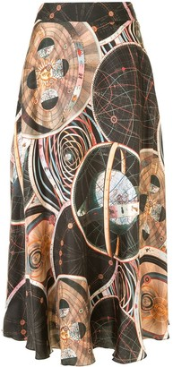 Ginger & Smart Abstract-Print Skirt