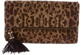 Michael Kors Python-Accented Ponyhair Clutch