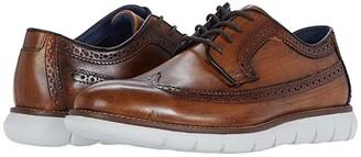 Johnston & Murphy Milson Longwing (Tan Full Grain Leather) Men's Shoes