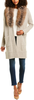 Forte Cashmere Shawl Collar Wool & Cashmere-Blend Cardigan